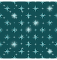 Christmas snowflakes seamless green background vector image vector image