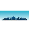 cityscape city skyline at day vector image vector image