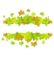 colorful autumn leaves green autumn sale frame vector image vector image