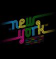 colorful continuous line font inline alphabet vector image