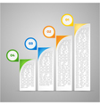 colorful infographic vector image vector image