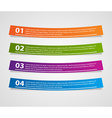 Colorful ribbons infographic Design element vector image vector image