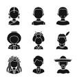 design of person and culture symbol vector image