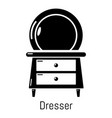 dresser icon simple black style vector image vector image