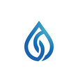 drop water logo vector image
