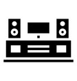 entertainment center icon with glyph style eps10 vector image vector image
