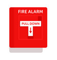 fire alarm safety equipment isolated on white vector image