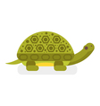 flat style of turtle vector image vector image