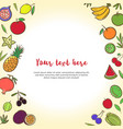 fruits and vegetables cute banner background vector image