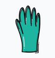 glove doodle color icon drawing sketch hand drawn vector image