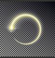 glow circle light effect round magic yellow frame vector image