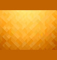 gold-orange mosaic background vector image vector image