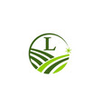 green project solution center initial l vector image vector image