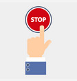 hand push stop vector image vector image