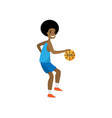 happy basketball player dribble all opponent team vector image vector image