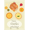 Happy Thanksgiving food vector image vector image