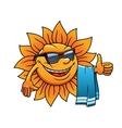 Happy tropical sun on a beach vacation vector image