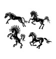 horse ornament silhouette vector image vector image