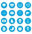 internal organs icon blue vector image vector image