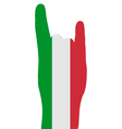Italian finger signals vector image vector image