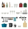 Kitchenware flat icons vector image vector image
