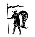 knight with shield and spear vector image vector image