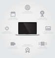 Laptop Information vector image vector image