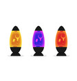 lava lamp with colorful fluid bubbles set of vector image