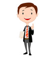 man doing thumbs up vector image vector image