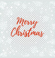 merry christmas abstract design on winter vector image vector image