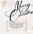 merry christmas luxury design in gold glitter vector image vector image