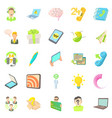 mobile telecommunications icons set cartoon style vector image vector image