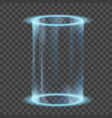neon glowing rings futuristic hologram or portal vector image