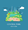 new york landmark central park vector image vector image