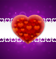 Red heart on a postcard vector image vector image
