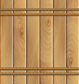 rope and a wooden background vector image vector image