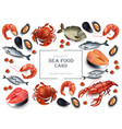 seafood cancer and mussels realistic vector image vector image