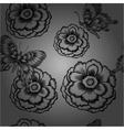 seamless pattern with decorative flowers and vector image vector image