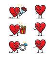 set love relationship character design vector image