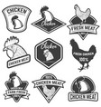 set of chicken meat labels design elements for vector image vector image