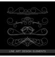 set of line art border elements for design vector image vector image