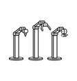 set of robotic arms vector image
