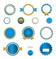 Set of sale badges labels and stickers in blue vector image
