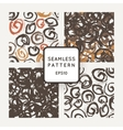 Set of seamless patterns with grungy hand vector image vector image