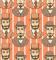 Sketch man in hat vintage style vector image vector image