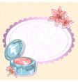 Skincare make-up blusher isolated card vector image vector image