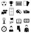 soccer football icons set vector image vector image