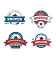 soccer logo set vector image vector image