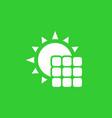 solar panel icon pictogram vector image vector image