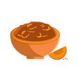 squash made of fruit in bowl vector image